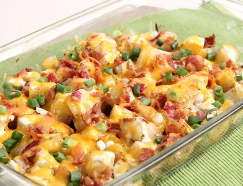 CAJUN BACON CHEESE POTATOES