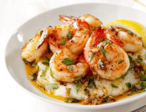SPICY SHRIMP WITH GRITS